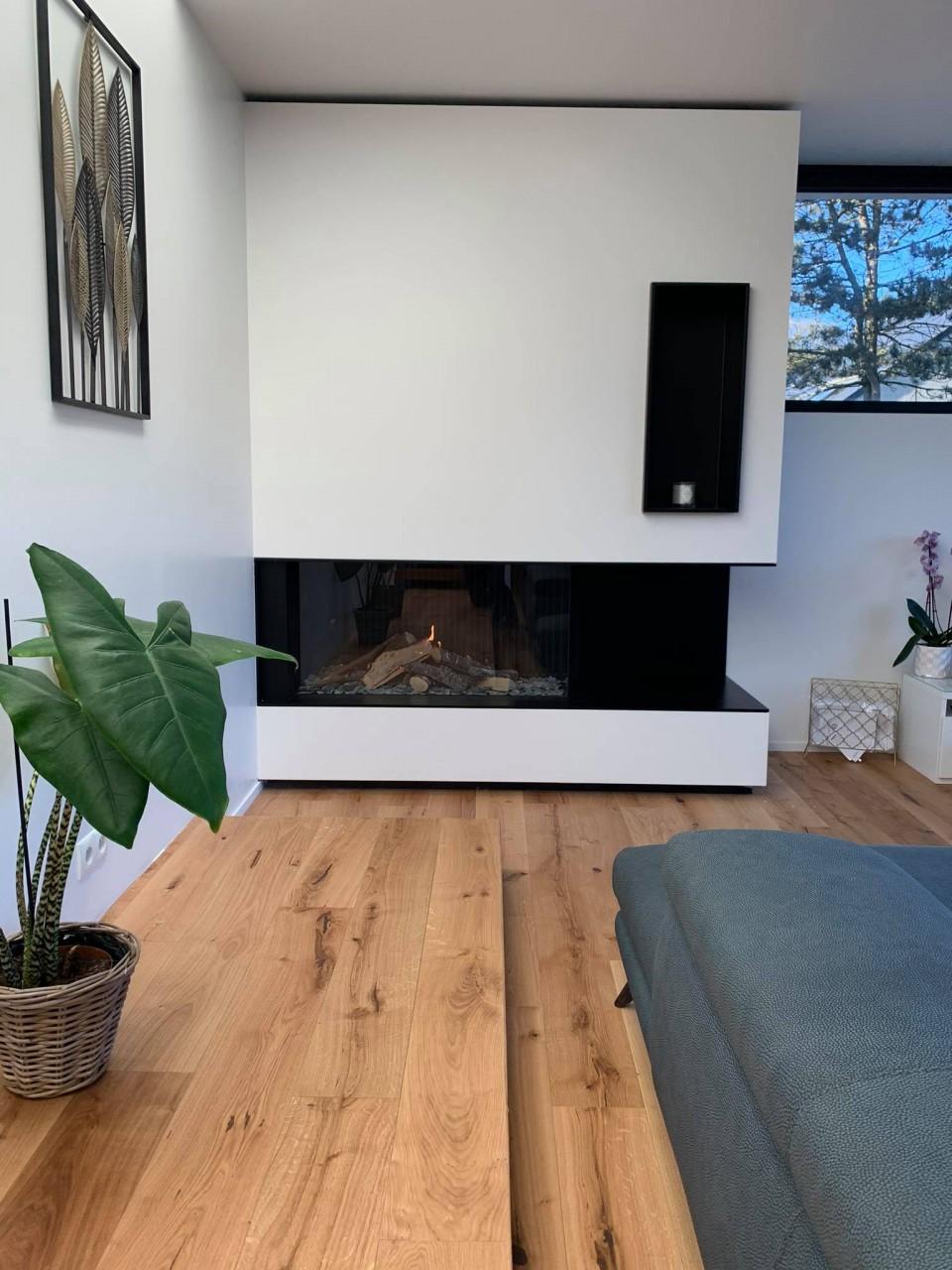 Janvier 2021 - Nouvelle conception autour d'un foyer gaz !