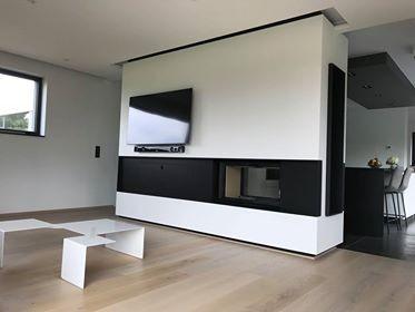 La recette pour concevoir une cheminée contemporaine et design autour d'un foyer Bodart&Gonay ?